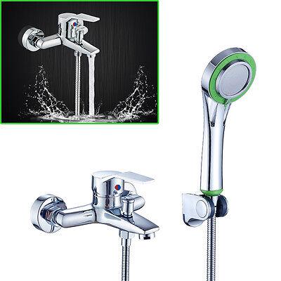 Badewannenarmatur SET Wannen Bad Armatur Einhebelmischer Wasserhahn+Handbrause