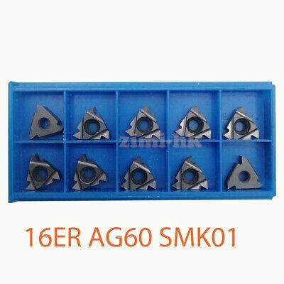 10pcs 16er Ag60 Smk01 Carbide Insert For Aluminum Processing 16er
