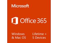 Microsoft Office 2016 365 Professional Plus - Windows, Mac, Mobile - 5 Users, Lifetime Access
