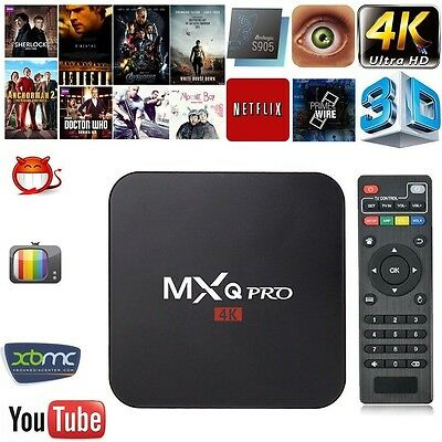 MXQ Pro 4K 1G+8G Smart TV Box H.265 S905 64-Bit 2.0GHz Quad Core Android5.1 HDMI