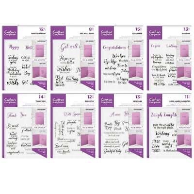 Crafters Companion - Sentiment & Verses -  Unmounted Clear Stamps