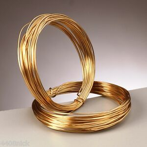1.2 mm ( 16 gauge) 24k GOLD PLATED CRAFT / JEWELLERY WIRE x 3 metres