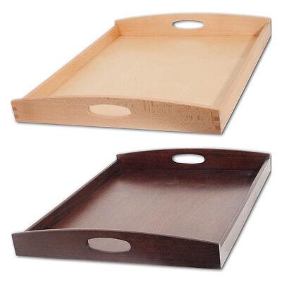 blett rechteckig aus Buchenholz 50x40cm Holztablett (Tablett Aus Holz)