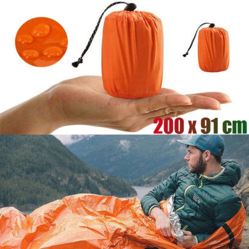 Reusable Emergency Sleeping Bag Waterproof Survival Camping Travel Bag/&Whistl ^