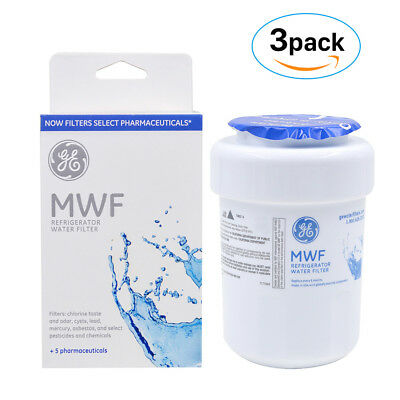 Genuine GE MWF MWFP GWF 46-9991 General Electric Smartwater Water Filter, 3 Pack