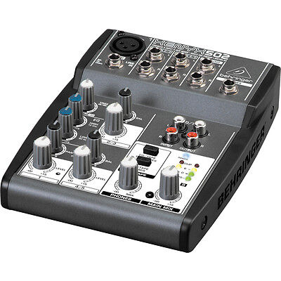 Behringer Xenyx 502 Premium 5-Input 2-Bus Mixer with Phatom Power on Rummage