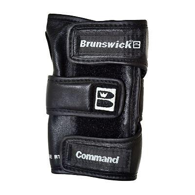 Brunswick Command Positioner LEFT Hand Bowling Glove Black Wrist Support Black Commander Gloves