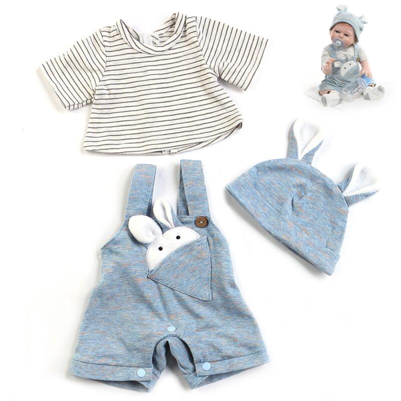 Handmade Clothes 3PCS Set Reborn Dolls Boys 20 inch Newborn Clothes Size Boy