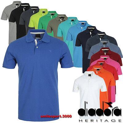 Diadora T-shirt - MAGLIA T-SHIRT UOMO diadora La polo 190 g Heritage 161005 100% Cotone piquet