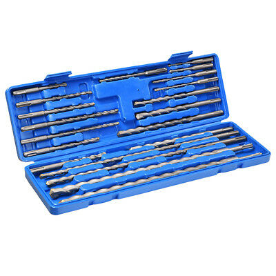 20pcs SDS Plus Rotary Hammer Drill Bits Concrete Masonry Hole Universal Tool Set