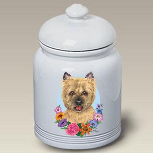 Wheaten Cairn Terrier Ceramic Treat Jar TP 47094