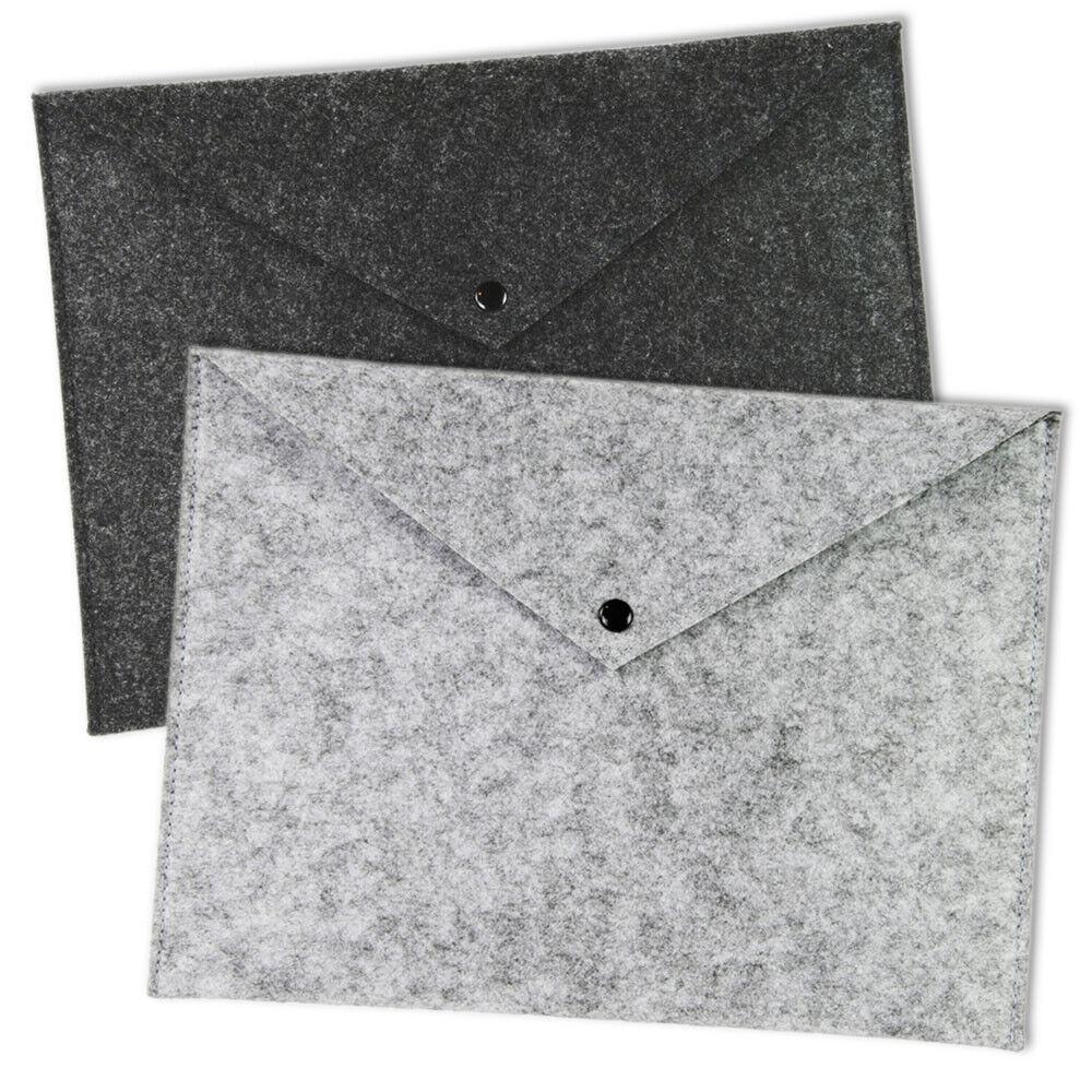 2 x Dokumentenmappe DIN A4 Filz Collegemappe TOP WRITE Dokumenten Taschen Mappen