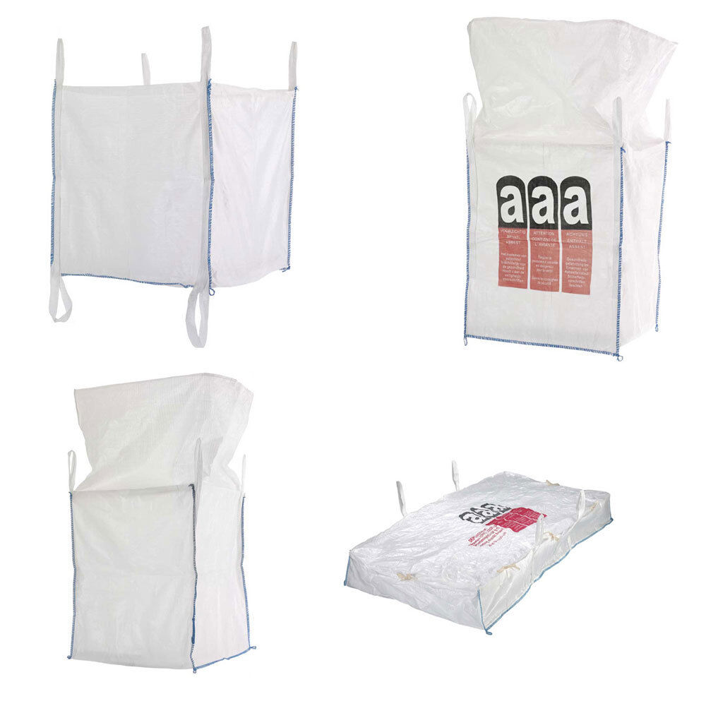 4 Stück BIG BAG 1000kg BAGS Schürze Entsorgungs Sack Schüttgutbehälter 90x90x110