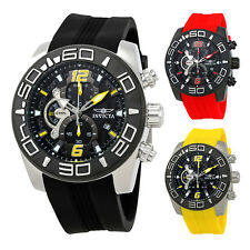 Invicta Pro Diver Chronograph Black Dial Silicone Mens Watch - Choose color