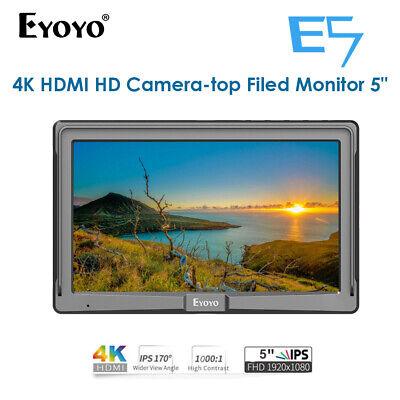 "Eyoyo 5"" Ultra FHD On-Camera Monitor HDMI IPS E5 For Zhiyun Sony Nikon Panasoni"