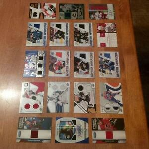 Hockey Memorabilia Cards