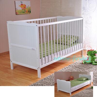 Weiß Gitterbett Kinderbett Babybett Massivholz Deluxe Schaum-Matratze J120 gebraucht kaufen  Görlitz