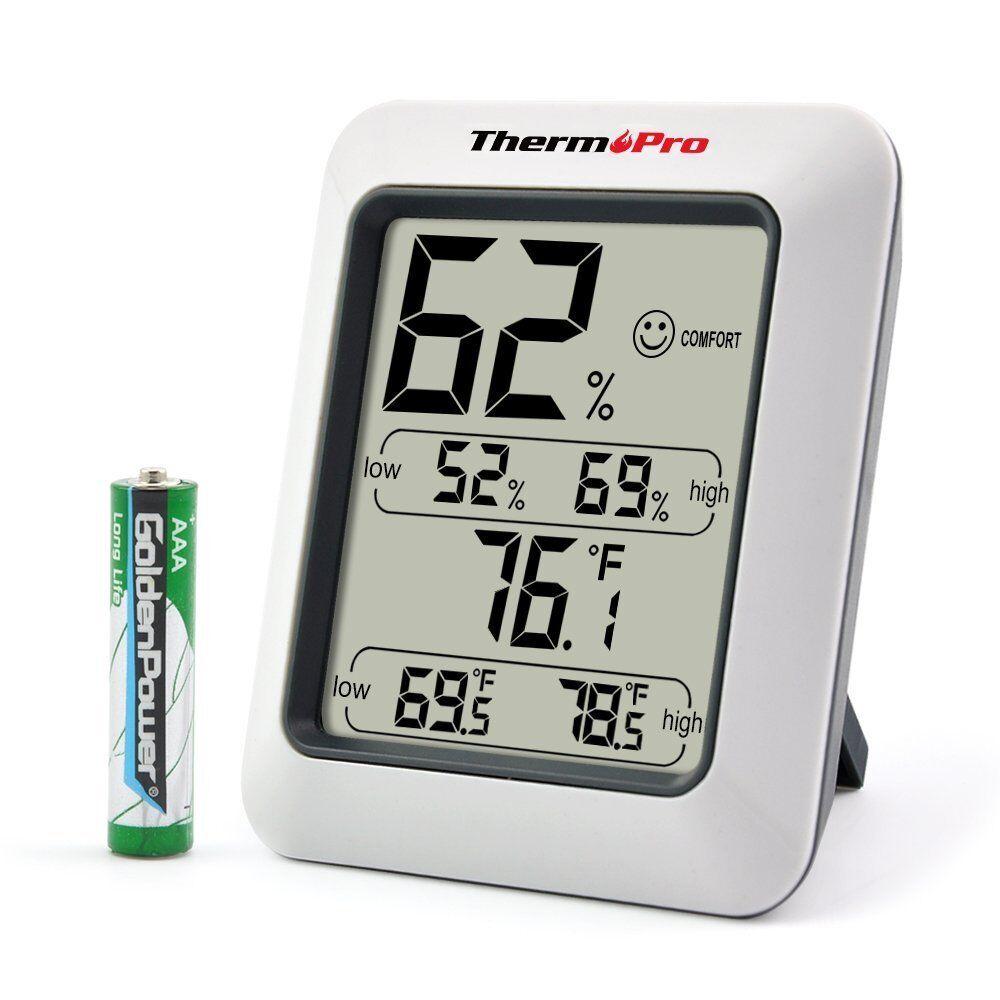Medidor Digital De Humedad Y Temperatura Ambiental Higrómetro Para Interiores