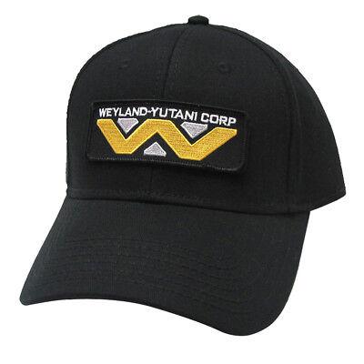 Alien Sci-Fi Movie Weyland-Yutani Corp Patched Baseball Snapback Black Cap Hat