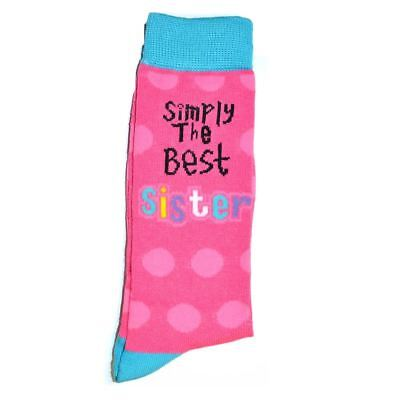Simply The Best Sister Socks Adult Size Christmas Birthday Gifts