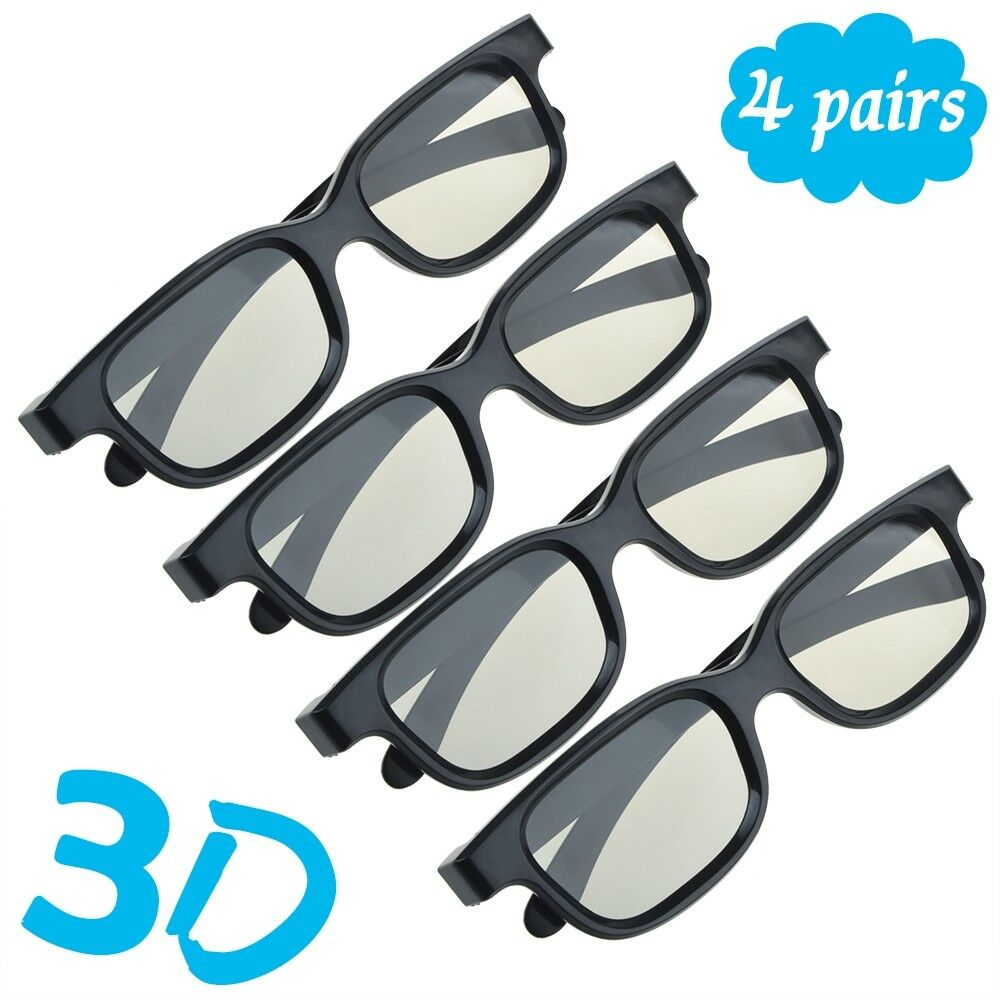4-Pairs-Passive-3D-Glasses-with-Polarized-Plastic-Lenses-for
