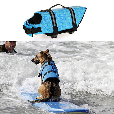 - Blue Pet Aquatic Reflective Preserver Float Vest Dog Saver Dog Life Jacket US