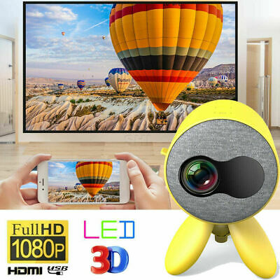 2020 HD 1080P Mini Pocket LED Projector 3D Home Theater Projector AV HDMI USB UK