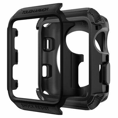 Rugged Armor Case Apple Watch Series 3 2 Nike + Sport Edition 42mm Matte Black ()