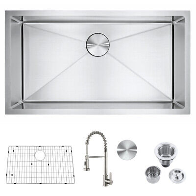 New Undermount 304 Stainless Steel Single/Double Bowl Kitchen Sink Assorted Size