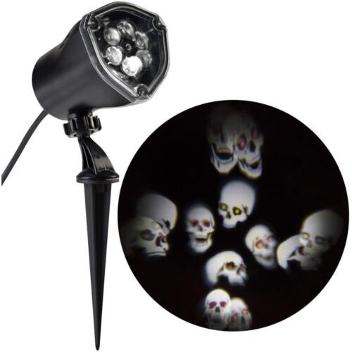 LightShow LED Projector Chasing Skulls Strobe Spotlight Halloween Skeleton