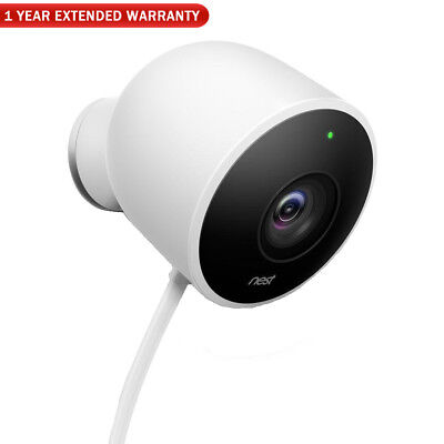 Google Nest NC2100ES Outdoor Security Camera - White + 1 Year Extended Warranty