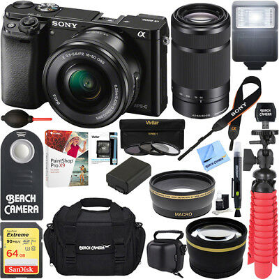 Sony Alpha a6000 Mirrorless Camera 16-50mm & 55-210mm Zoom L