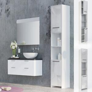 Mobiletto per bagno mobiletto bagno mobile a colonna per il bagno bianco lucido ebay - Mobile bagno angolare ...