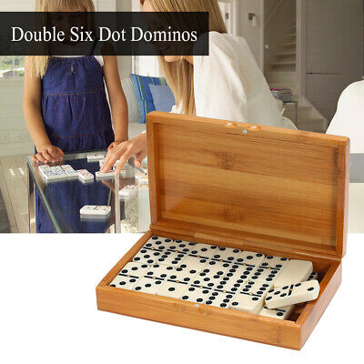 Travel Double Six Dominoes (Double Six Dominoes Set Entertainment Recreational Travel Game Toy Black Z3P9 )