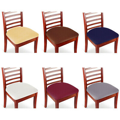 Set of 2/4/6/8 Stretch Removable Washable Dining Room Chair Seat Cover Slipcover Dining Room Set Furniture Cover