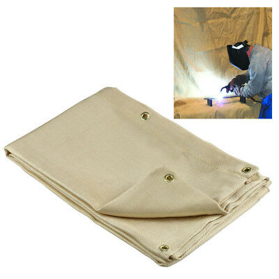 Welding Blanket 6 X 8 Fire Flame Retardent Fiberglass Shield Brass Grommets