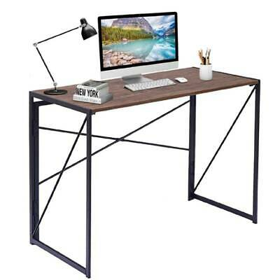 Foldable Computer Desk Laptop Study Work Coffee Table Office Home Iron Frame