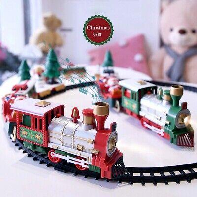 Classic Train Set for Kids Christmas Train Set Smoke Realistic Sounds