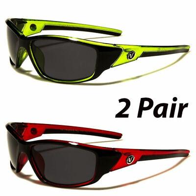 2 Pair POLARIZED Nitrogen Mens Anti Glare Fishing Driving Sport Sunglasses - Plastic Sunglasses