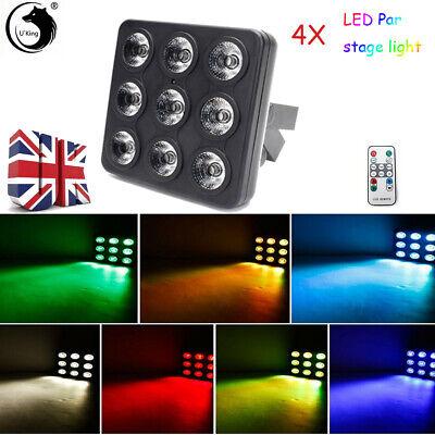 RGB LED Stage Lights Par Can Flat DJ Disco Bar Beam Uplighter DMX512 Lighting UK