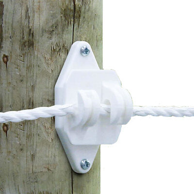 Patriot - Wood Post Jumbo Claw Insulator - White