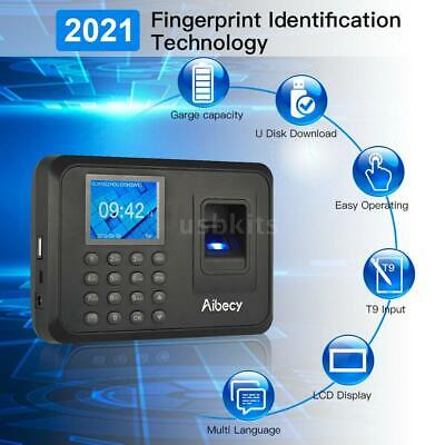 Biometric Fingerprint Checking-in Attendance Machine Employee Time Clock Usa