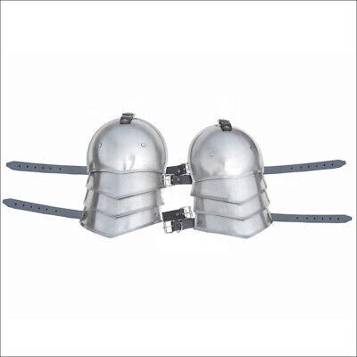 Medieval Gothic 18 Gauge Steel Shoulder Armor Pauldron Set