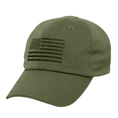 OD Green USA Flag Ball Cap US Army USMC Navy SEAL Seabees Tactical Operator -