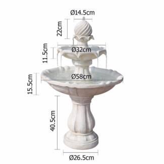 Fountain Ivory Solar Power Three-Tier Water