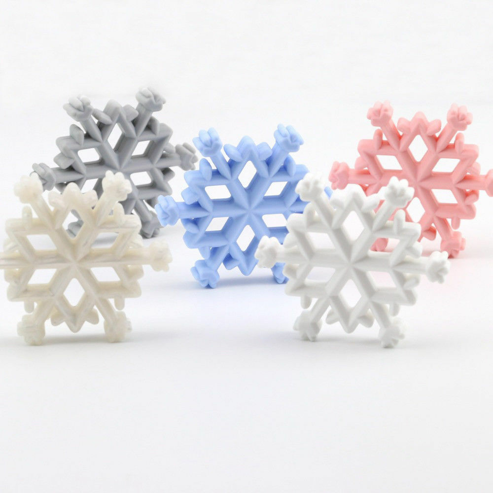 Snowflake Beads Baby Teether DIY Pacifier Chain Teething Beads Necklace Jewelry
