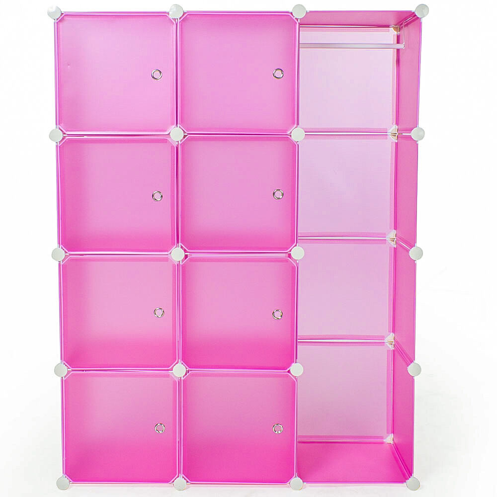 etag re enfichable armoire penderie v tements rangement syst me clip pink eur 40 90. Black Bedroom Furniture Sets. Home Design Ideas