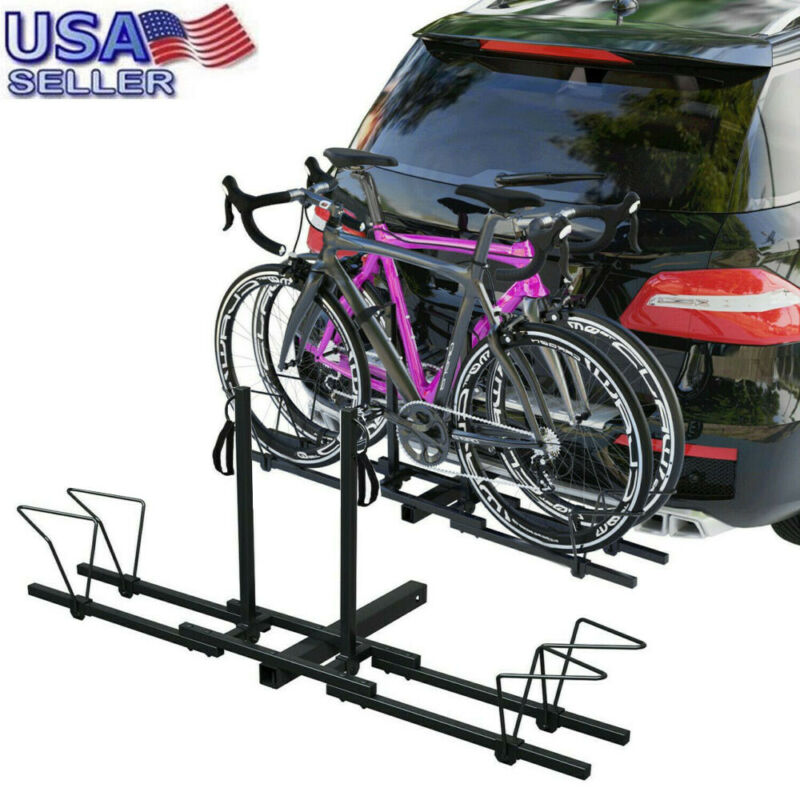 "New Heavy Duty 4 Bike Bicycle 2/""  Carrier Platform Rack Car Truck SUV"