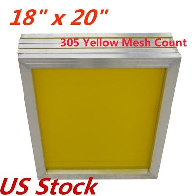 Us-6pcs Silk Screen Printing Frame Screens 18 X 20 305 Mesh Count