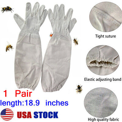 Usa Xl Beekeeping Gloves Goatskin Bee Keeping With Vented Beekeeper Long Sleeves